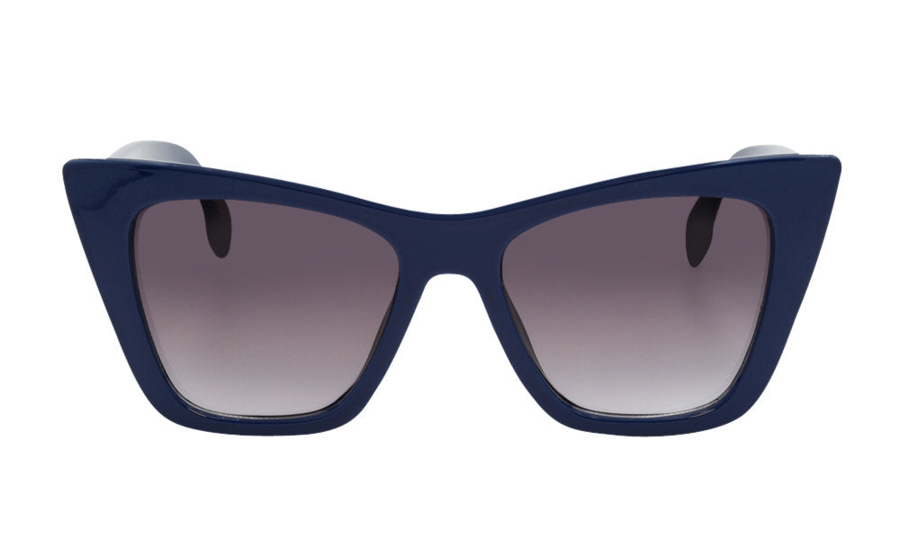 Blue square cat eye glasses