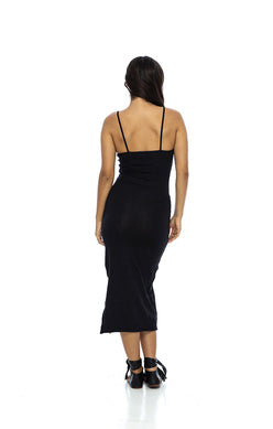 Black Tank Dress Stretchy Soft Spandex