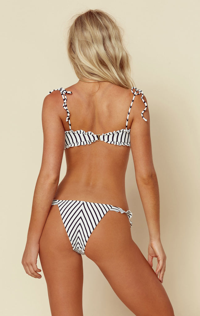 Ruffle Skimpy Bottom Jacquard Stripe