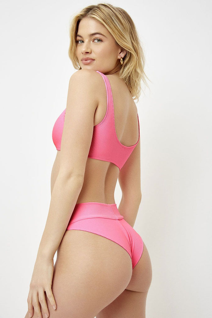 pink high waisted bottoms
