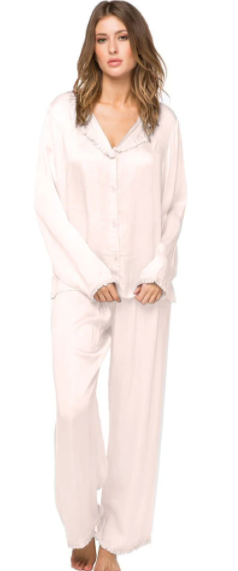 Blush Ruffled Pajama Set