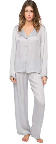 Light Grey Satin PJ Set