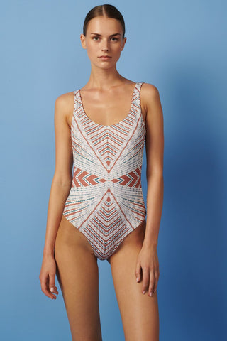 Open back reversible one piece