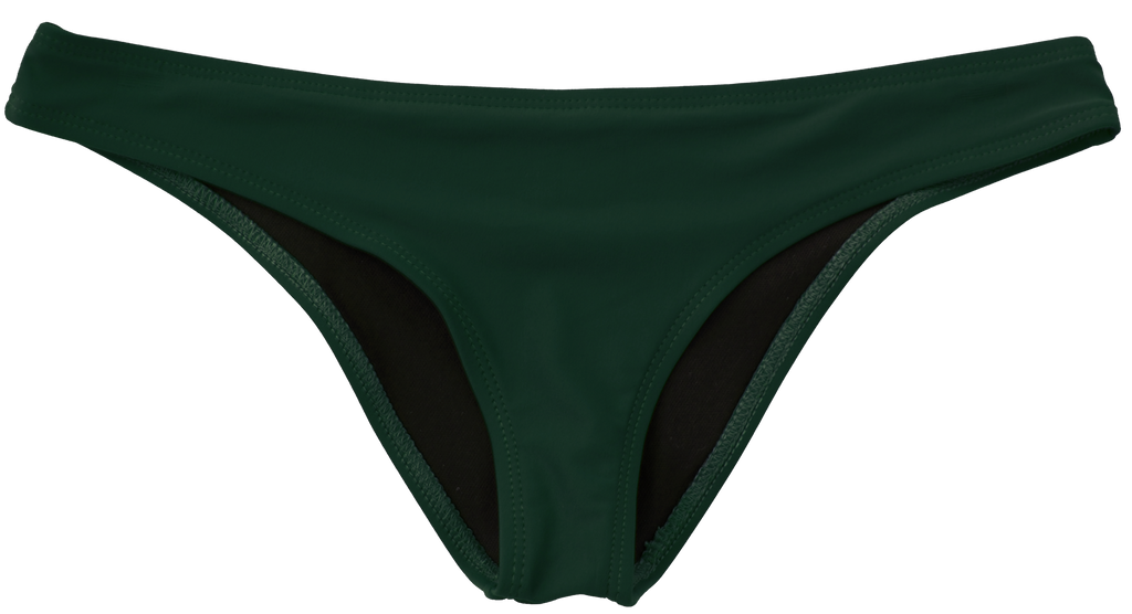 Army green low rise moderate coverage bottoms