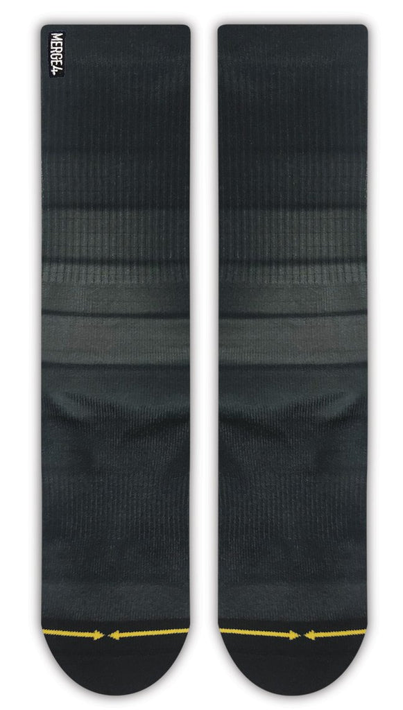 Black Fade Crew Socks