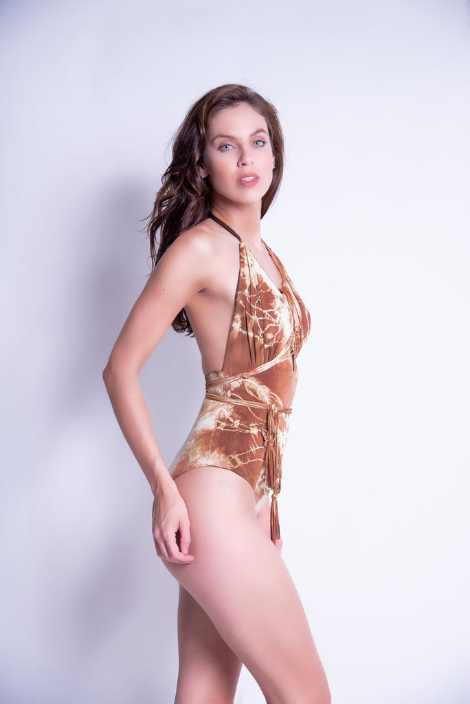Camille in Gold/Brown