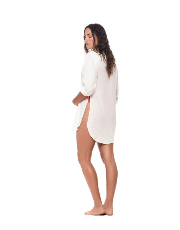 White cover up perfect for resort season