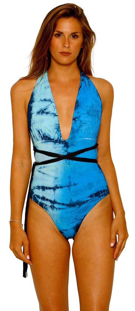 Reversible halter one piece