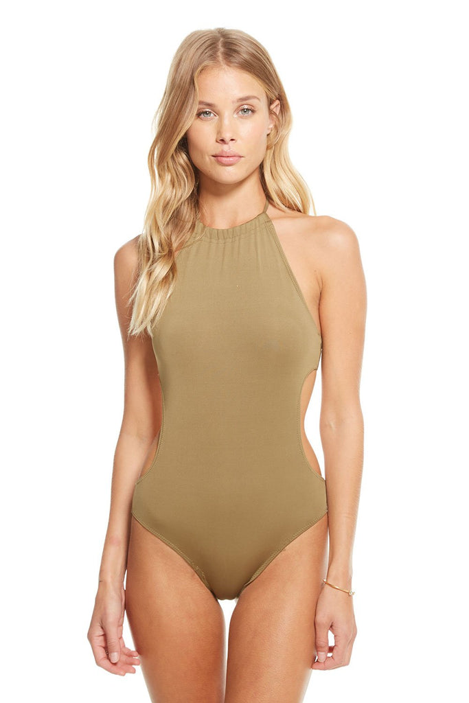 Halter cut out onepiece