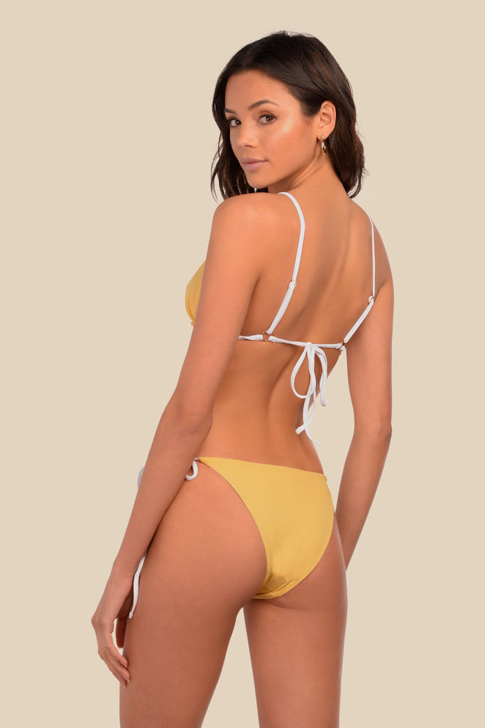 Yellow reversible tie-side bottoms