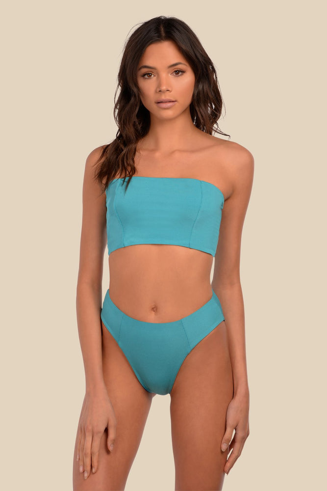 Load image into Gallery viewer, Blue reversible seamless bandeau top