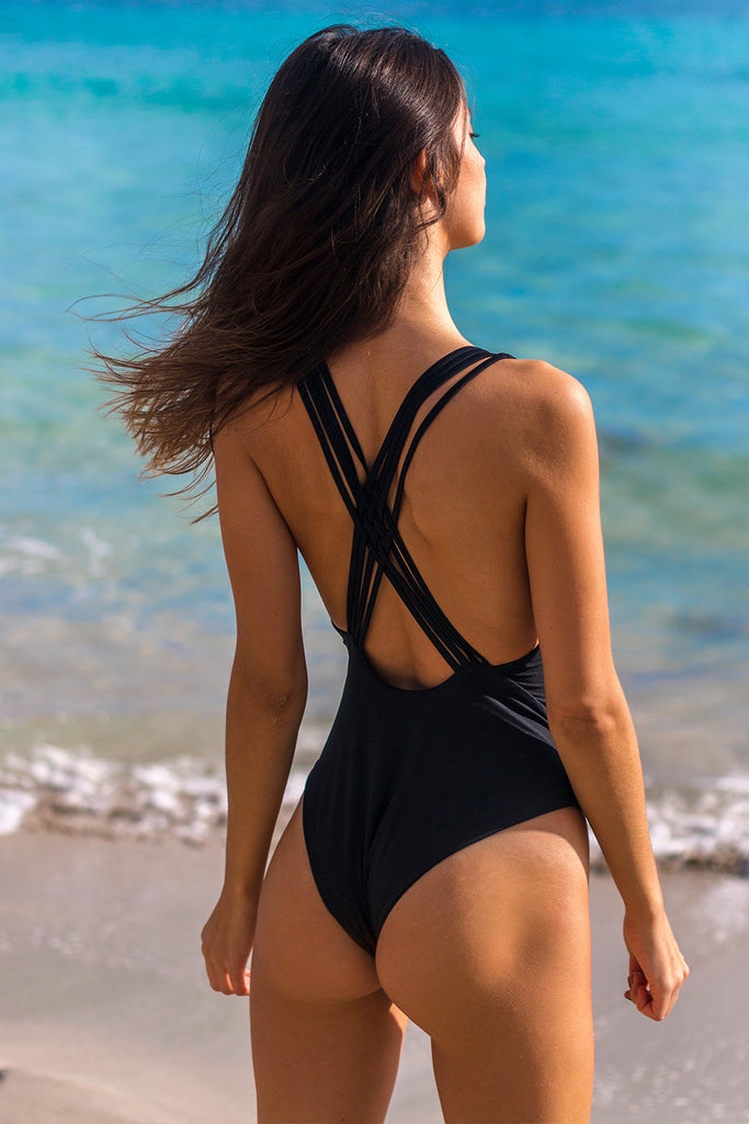 Black cross one piece