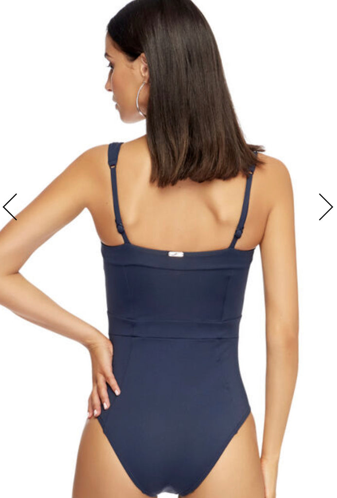 Navy full coverage one piece