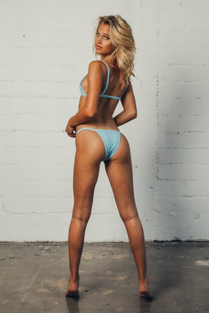 Load image into Gallery viewer, Light blue cheeky bottoms