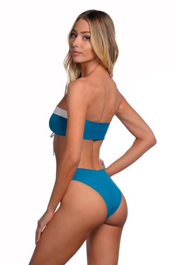 Load image into Gallery viewer, Blue reversible multi-wear bandeau
