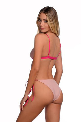 Nude reversible tie-side bottoms