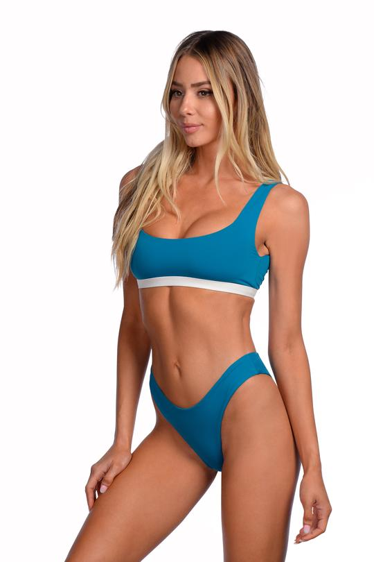 Load image into Gallery viewer, Reversible blue sporty top