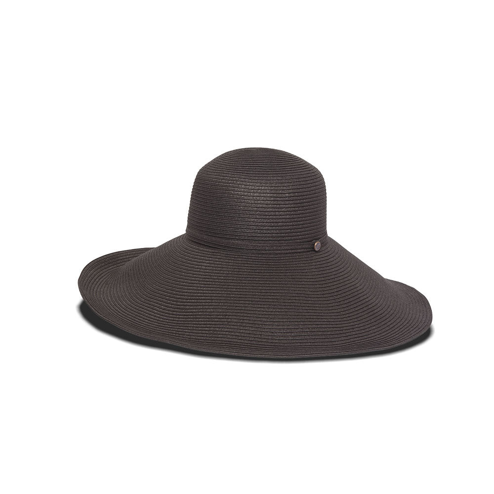 Black adjustable sun hat