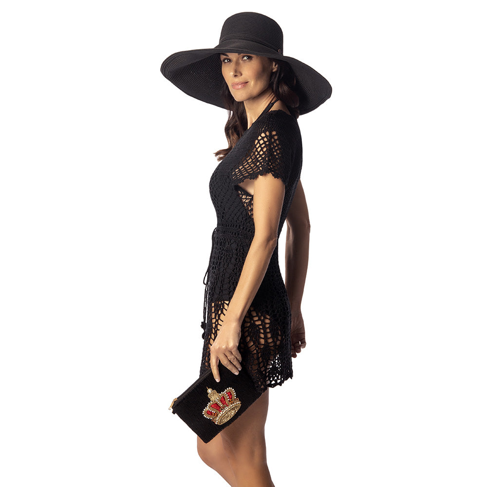 Load image into Gallery viewer, Black adjustable sun hat