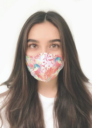 Load image into Gallery viewer, Colorful Floral Print Face Mask