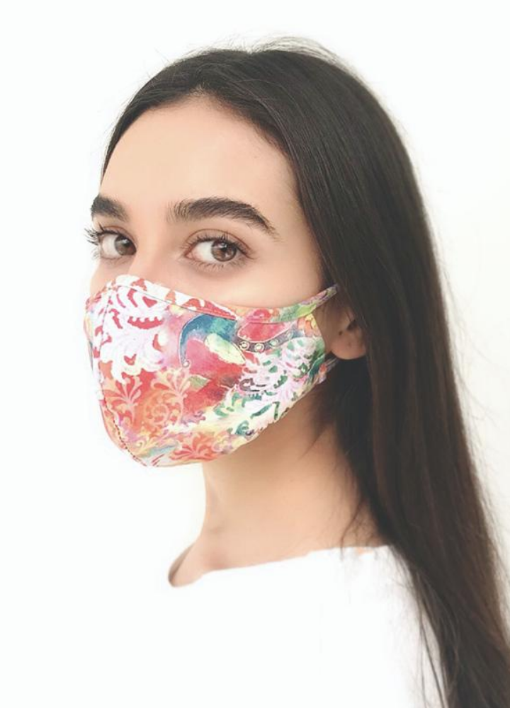 Colorful Floral Print Face Mask