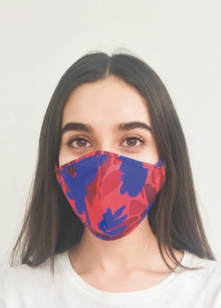 Red And Blue Face Mask