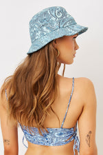 Blue Paisley Bucket Hat