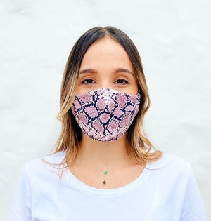 Load image into Gallery viewer, Pink Snake Adult Mask