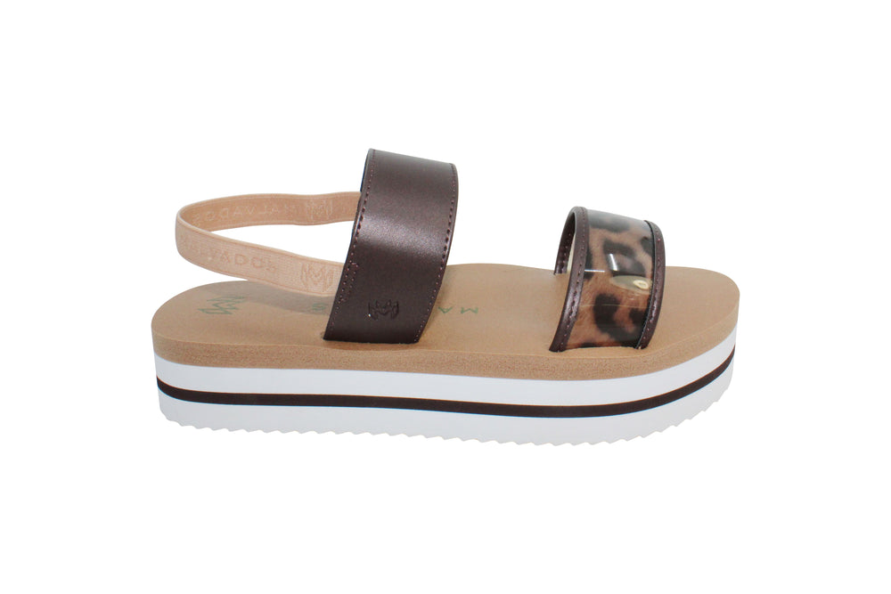 Load image into Gallery viewer, Leopard Print Strap Sandals