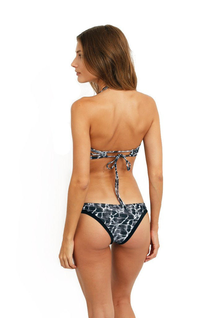 Water print underwire bandeau
