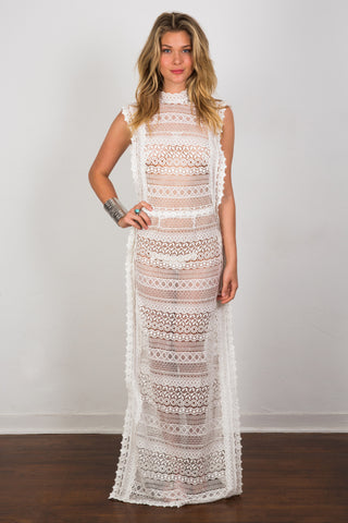 Angelina Lace  Maxi Dress