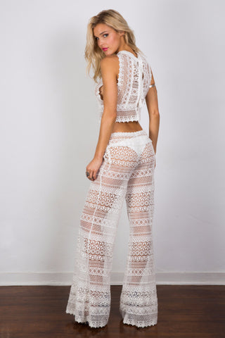 Adjustable lace pants