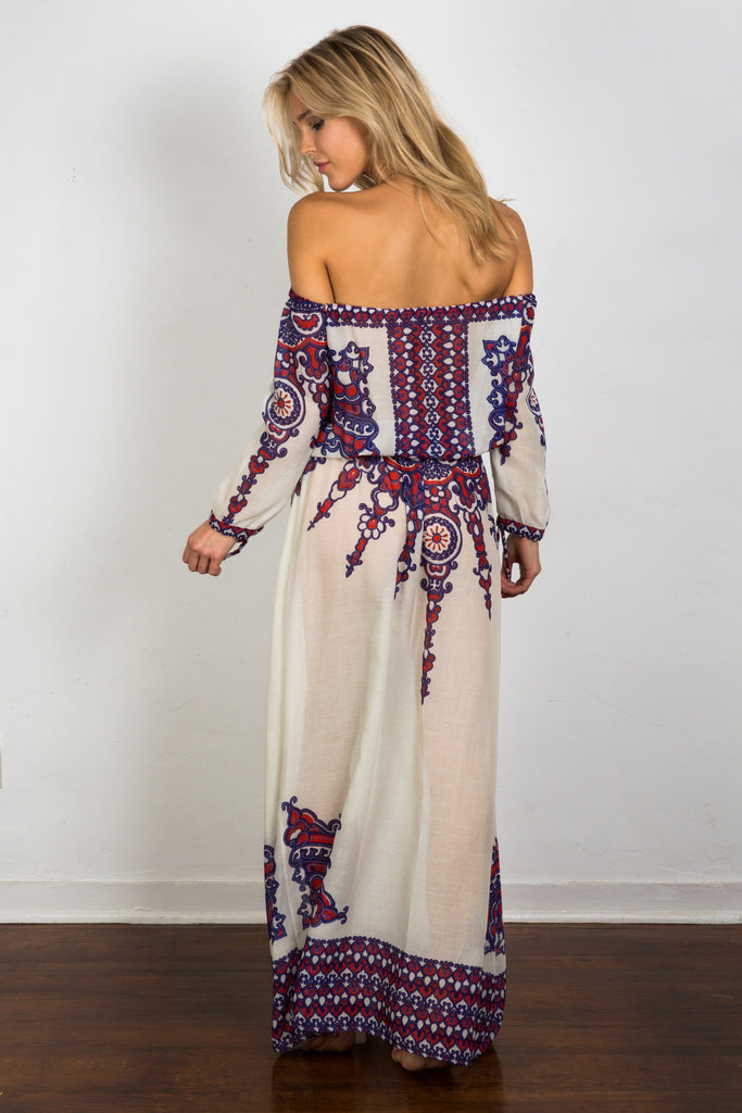 Ophelia Off Shoulder Maxi Dress