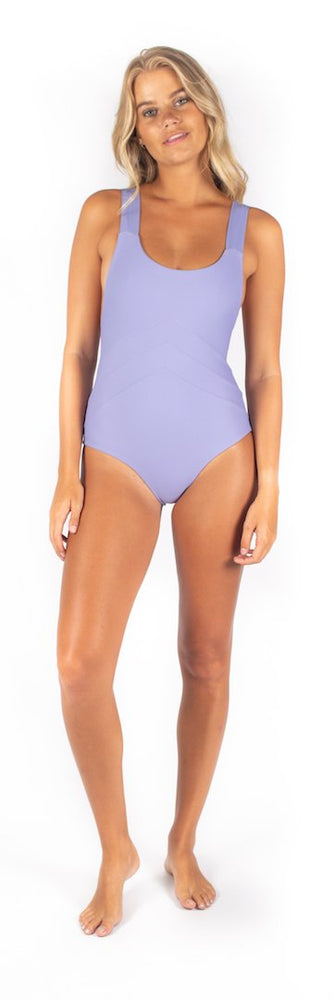 Light purple cross back one piece