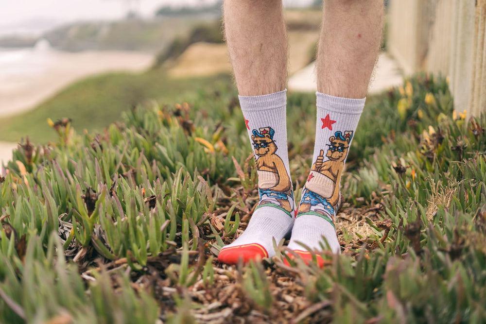 Load image into Gallery viewer, California Bear Surf Socks