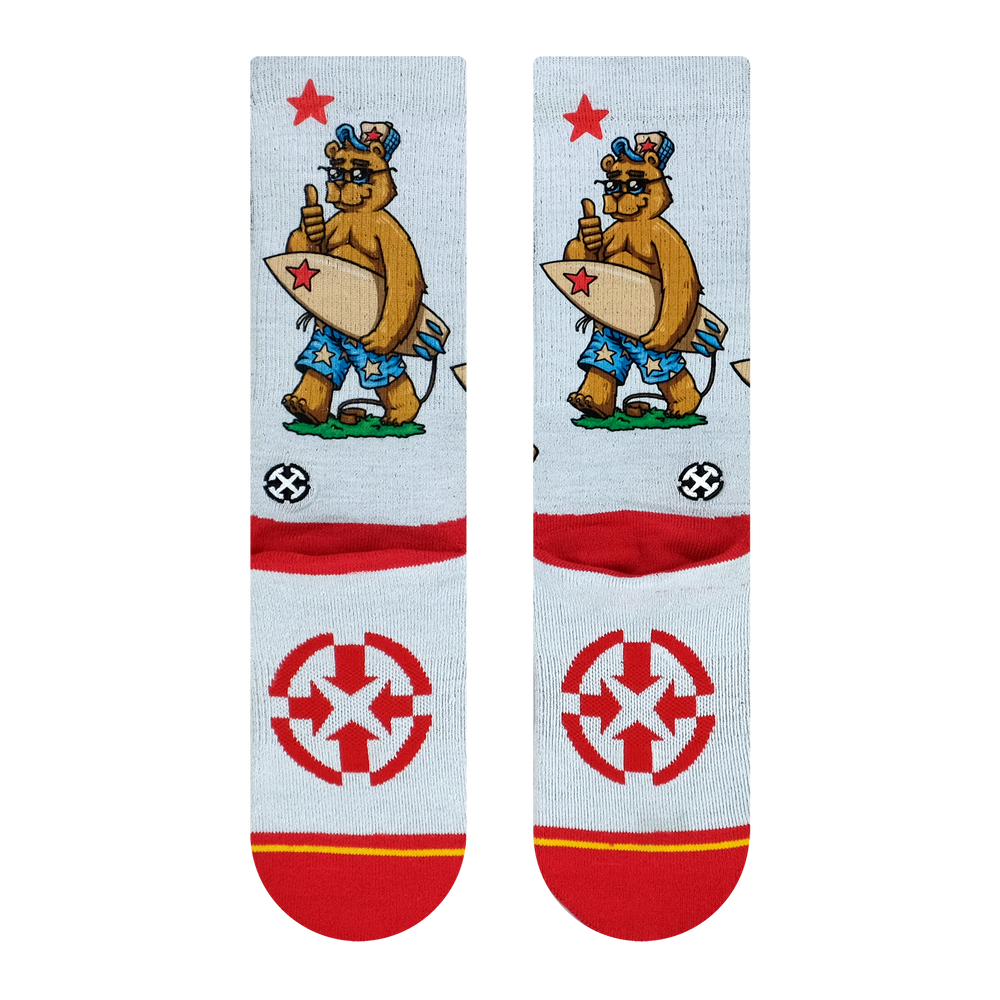 California Bear Surf Socks