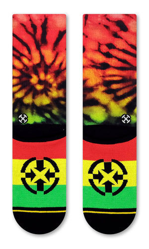 Load image into Gallery viewer, Rasta Tie Dye Socks