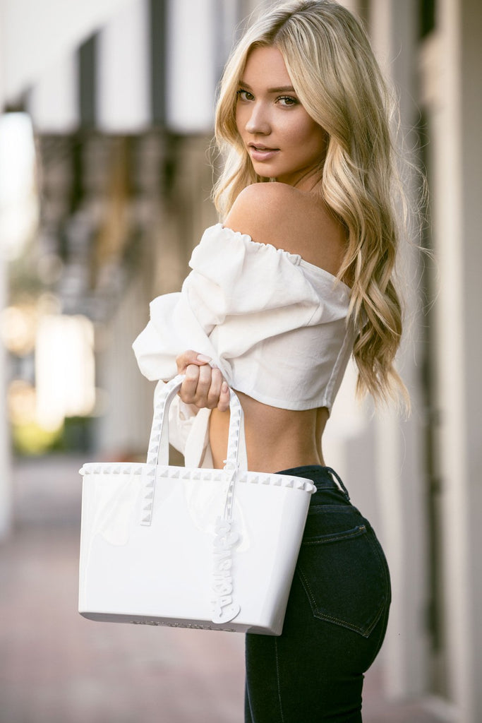 White Mini Tote