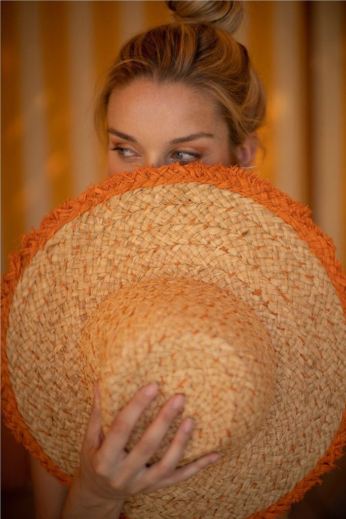 Sydney Hat in Tangerine
