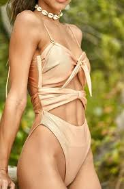 Rose gold cut out one piece