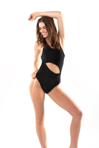 Black cut out monokini