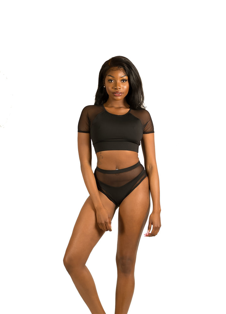 Load image into Gallery viewer, Mesh high waisted bottoms