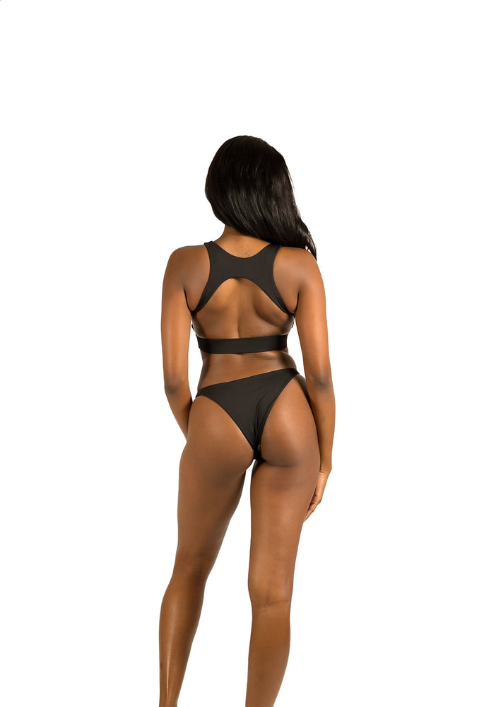 Black high hip bottoms