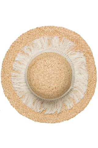 Fringe Natural Hat