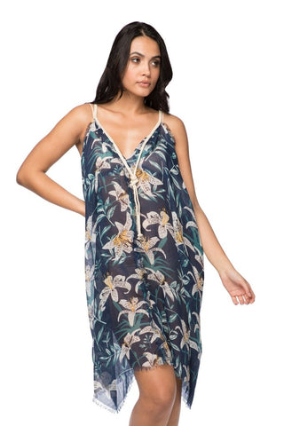 Rita reversible dress in lovely lillies