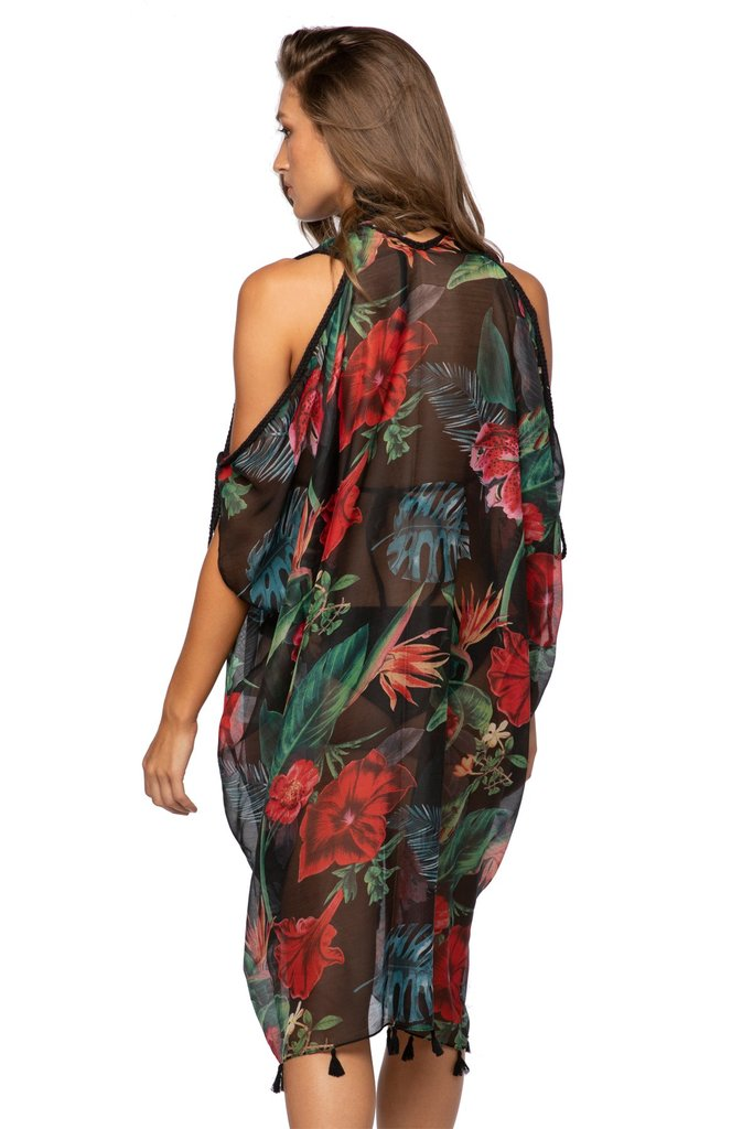 Hibiscus Garden Open Shoulder Dress