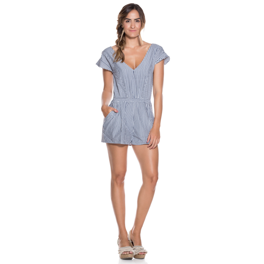 Load image into Gallery viewer, Women Striped Playsuit