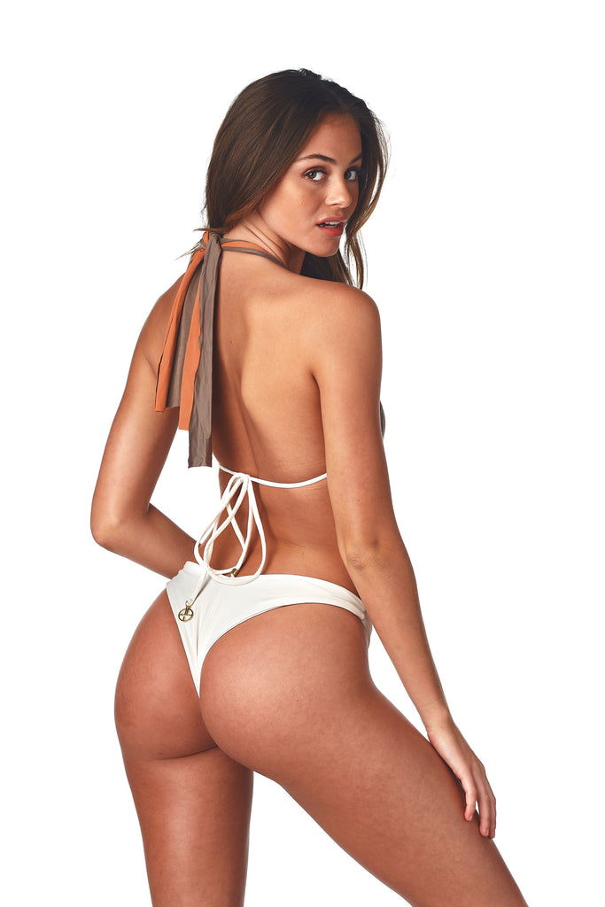 White high hip cheeky bottoms
