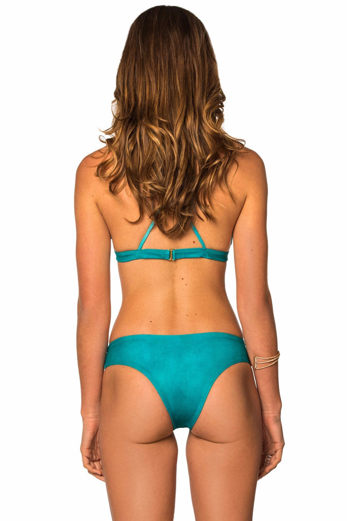 Blue low rise bottoms