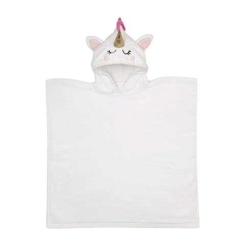 Unicorn Kids Hooded Beach Towel
